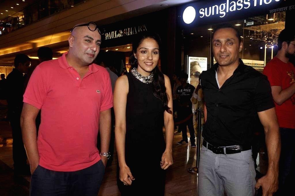 Actors Lekha Washington and Rahul Bose during an art installation launch at Palladium in Mumbai, on June 18, 2015.