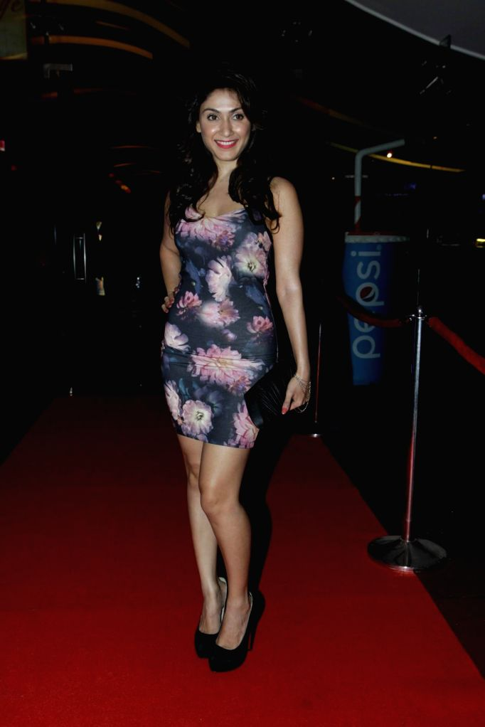 Actors Manjari Phadnis during the first look launch of film Sharafat Gayi Tel Lene in Mumbai, on Nov. 14, 2014. - Manjari Phadnis