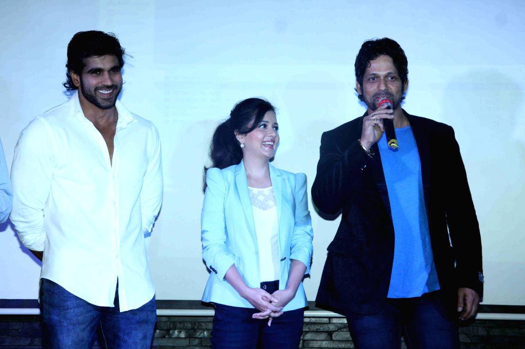 Actors Rajeev Pillai, Sulagna Panigrahi and Rajesh Shringarpure during the first look and music launch of Ek Adbhut Dakshina Guru Dakshina in Mumbai on March 25, 2015. - Rajeev Pillai, Sulagna Panigrahi and Rajesh Shringarpure