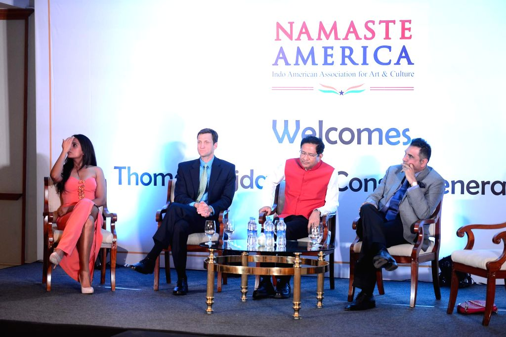 Actors Richa Chadha and Boman Irani during Namaste America event to invite new US Consul General in Taj Lands End, Mumbai on Nov. 24, 2014. - Richa Chadha