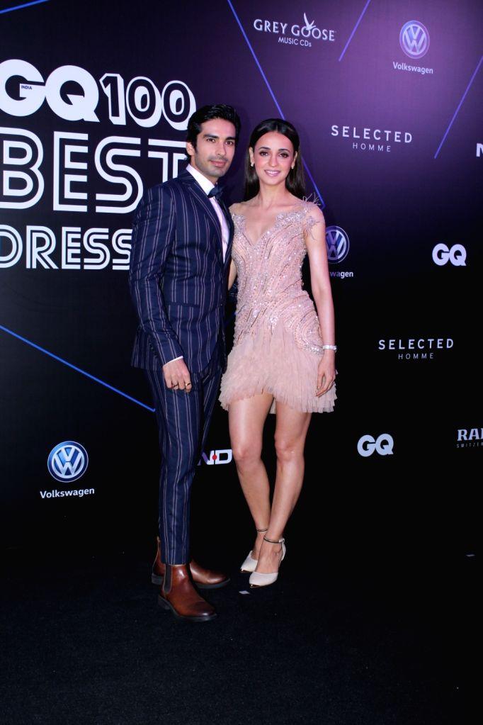 "Mumbai: Actors Sanaya Irani and Mohit Sehgal at ""GQ 100 Best Dressed Awards 2019"", in Mumbai, on June 1, 2019. - Sanaya Irani and Mohit Sehgal"