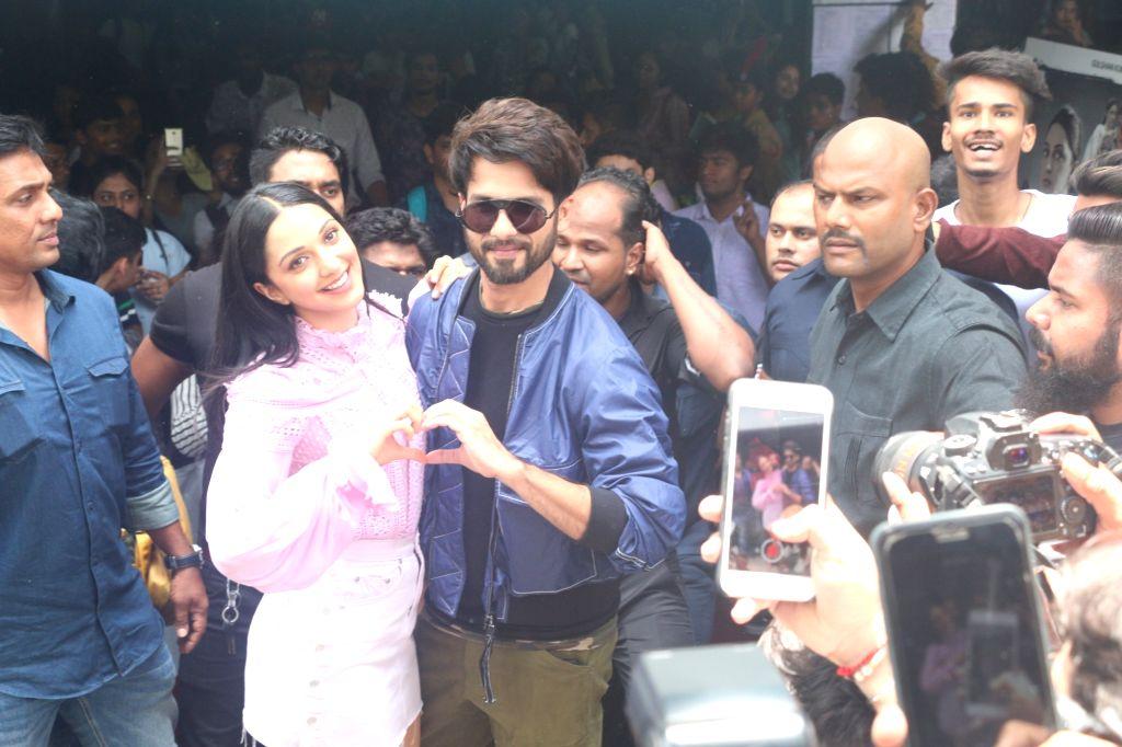 "Mumbai: Actors Shahid Kapoor and Kiara Advani at the launch of the song ""Mere Sohneya"" from their upcoming film ""Kabir Singh"", in Mumbai on June 6, 2019. (Photo: IANS) - Shahid Kapoor, Kiara Advani and Kabir Singh"