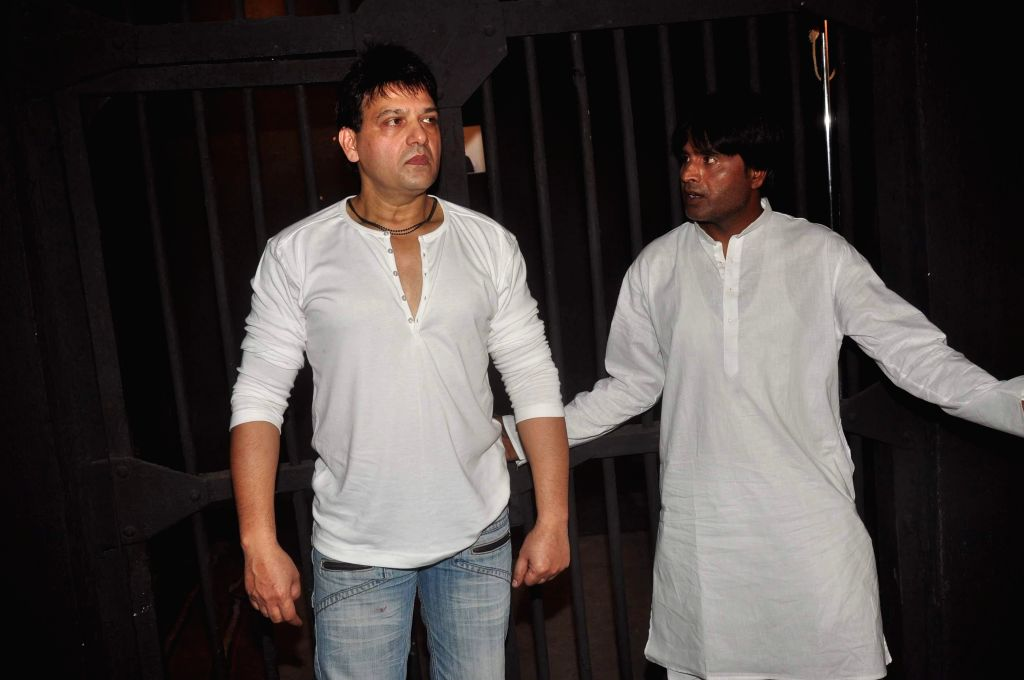 Actors Usman Khan and Mahesh Saini during launch of film Qaidi No 210 in Mumbai, on Feb 16, 2015. The film is based on Bollywood actor Salman Khan's involvement in the infamous blackbuck ... - Salman Khan, Usman Khan and Mahesh Saini