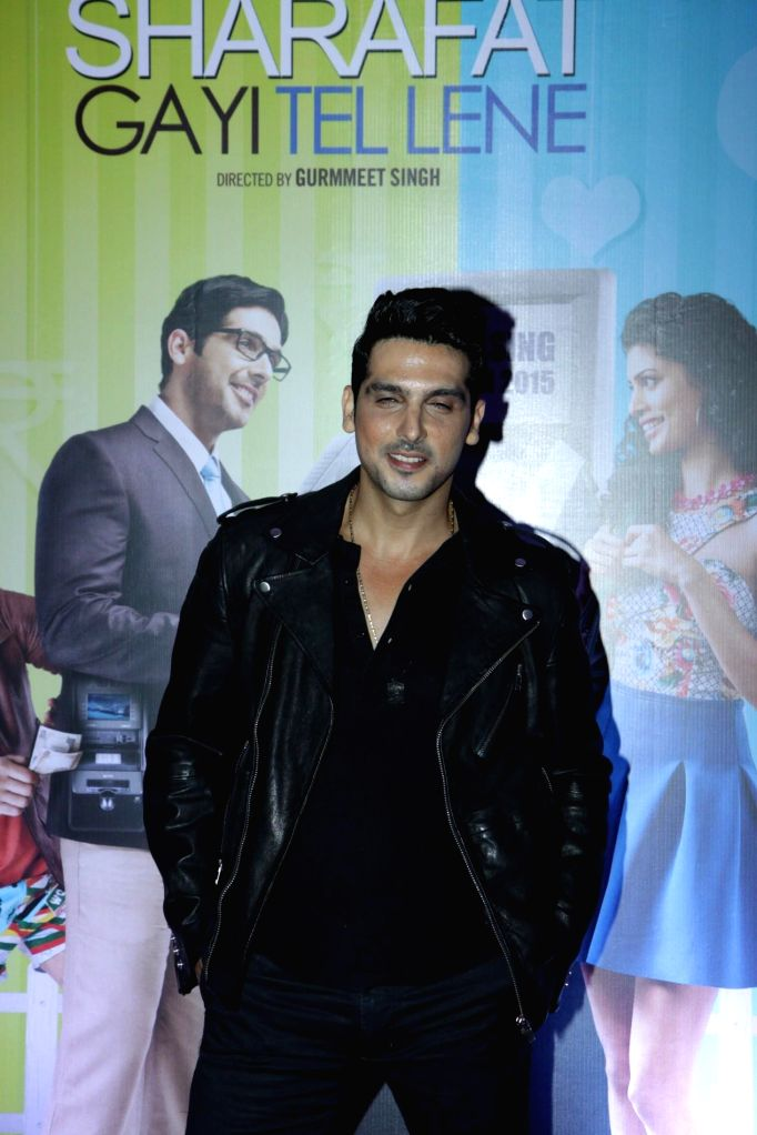 Actors Zayed Khan during the first look launch of film Sharafat Gayi Tel Lene in Mumbai, on Nov. 14, 2014. - Zayed Khan