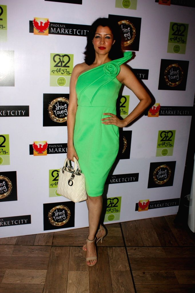 Actorss Aditi Gowitrikar during the grand finale of Shine Young 2015 in Mumbai, on June 21, 2015.
