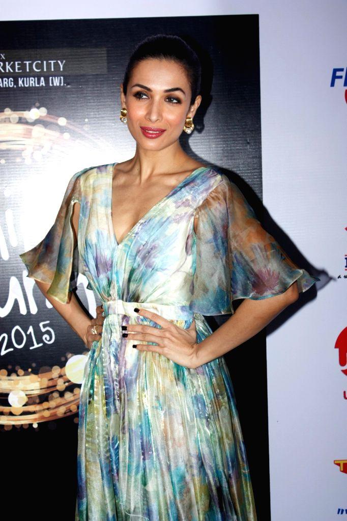 Actorss Mallika Arora Khan during the grand finale of Shine Young 2015 in Mumbai, on June 21, 2015. - Mallika Arora Khan