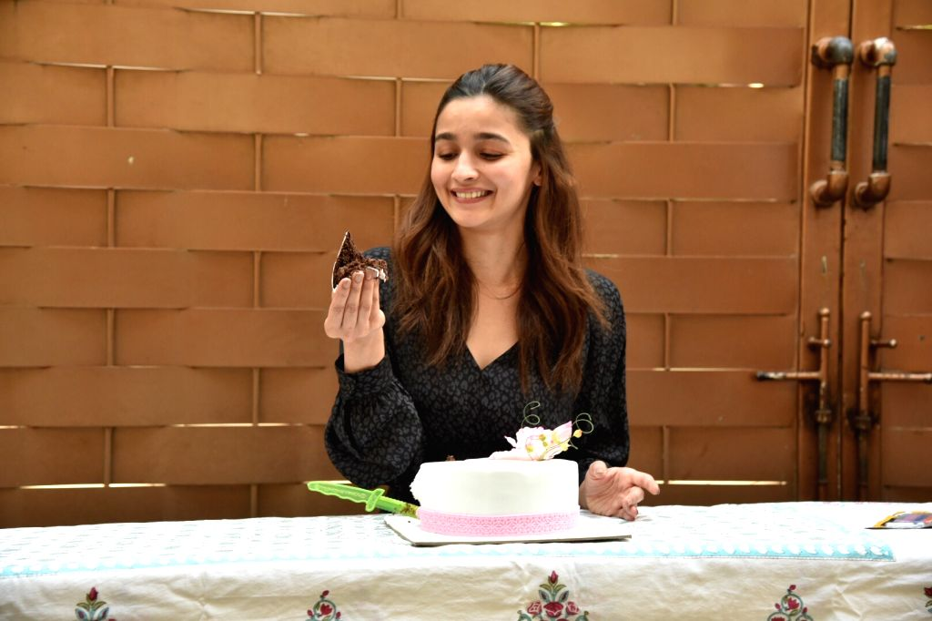 Mumbai: Actress Alia Bhatt celebrates her birthday in Mumbai, on March 15, 2019. (Photo: IANS) - Alia Bhatt