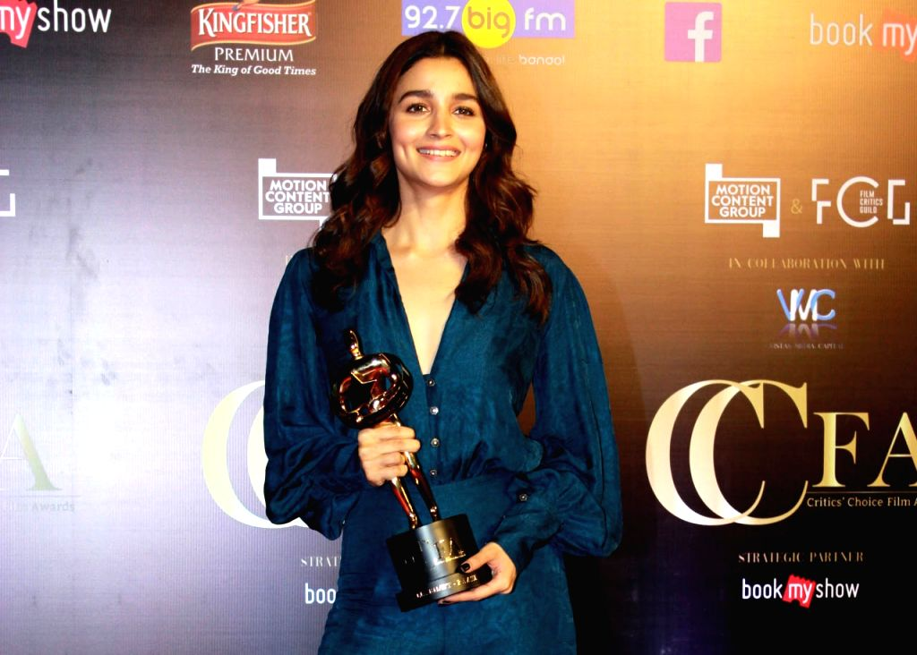 Mumbai: Actress Alia Bhatt on the red carpet of Critics' Choice Film Awards 2019, in Mumbai, on April 21, 2019. (Photo: IANS) - Alia Bhatt