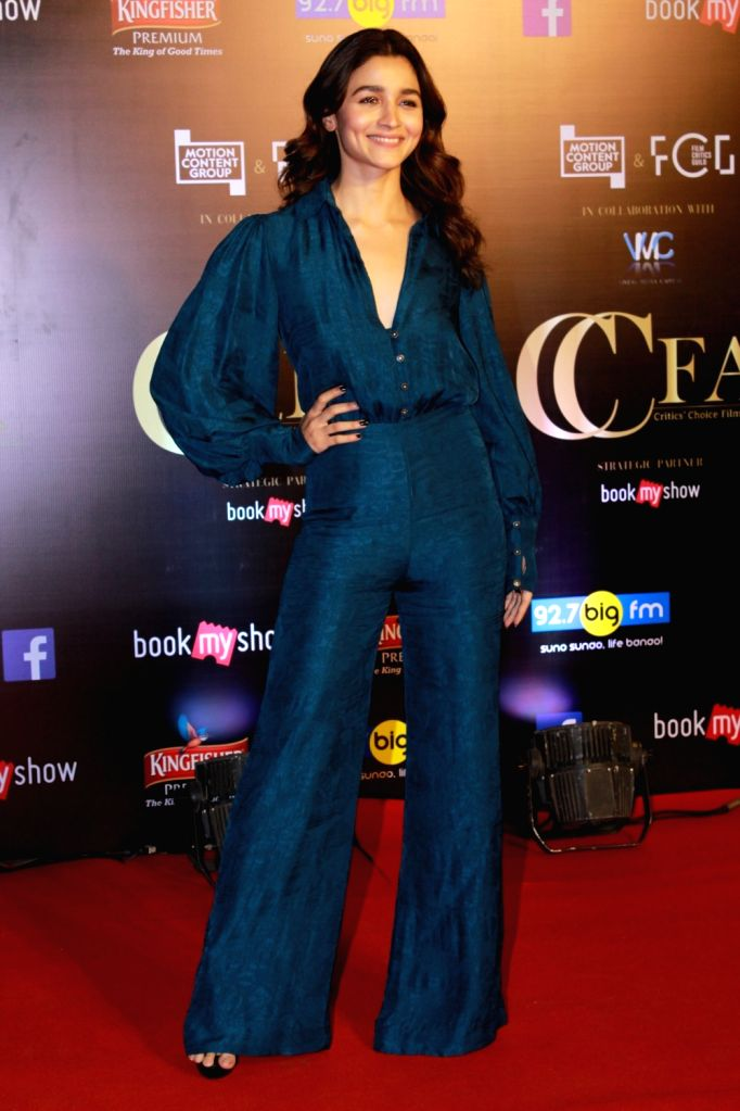 Mumbai: Actress Alia Bhatt on the red carpet of Critics' Choice Film Awards 2019, in Mumbai, on April 21, 2019. (Photo: IANS) - Alia Bhatt