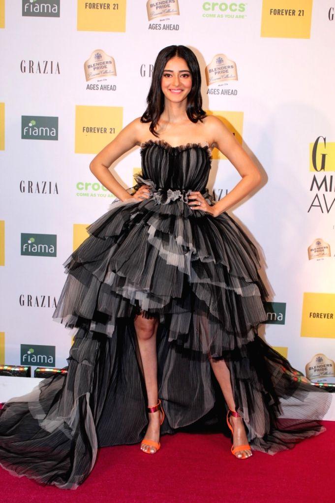 Mumbai: Actress Ananya Panday at the Grazia Millennial Award 2019, in Mumbai, on June 19, 2019. (Photo: IANS) - Ananya Panday