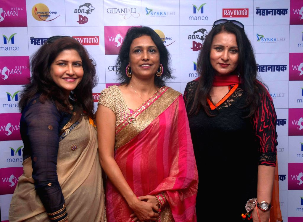 Actress and Producer Kanchan Adhikari, Organiser Dr. Bhavna Raj and Actress Poonam Dhillon during the `Being Woman`, a special event on International woman`s day, in Mumbai, on March 8, 2015. - Poonam Dhillon