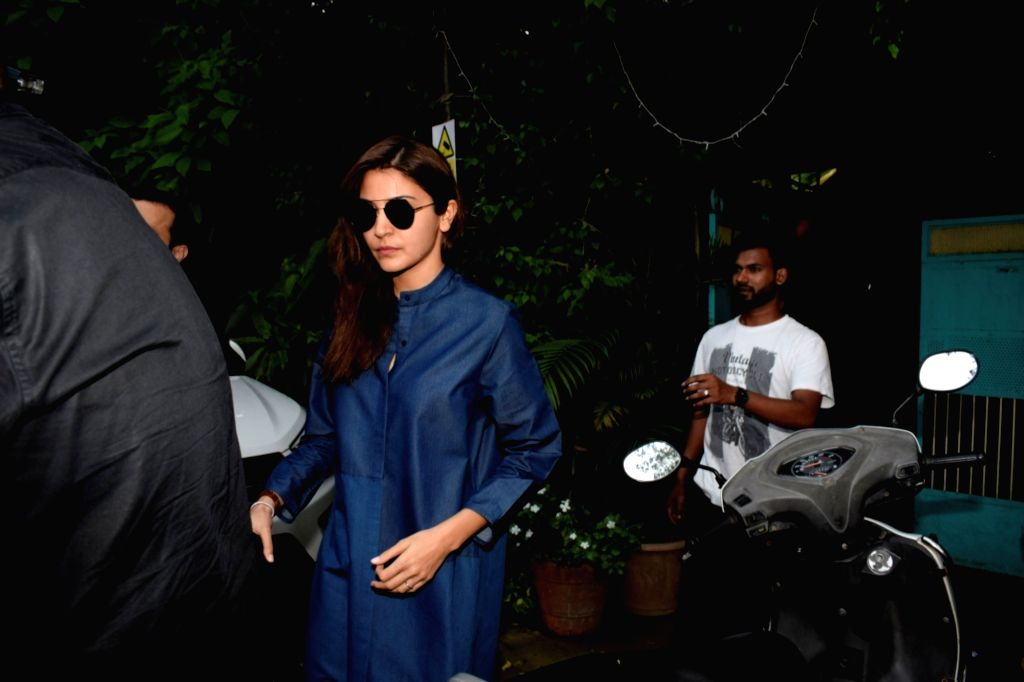 Mumbai: Actress Anushka Sharma seen at Mumbai's Versova on Aug 10, 2018.(Photo: IANS) - Anushka Sharma