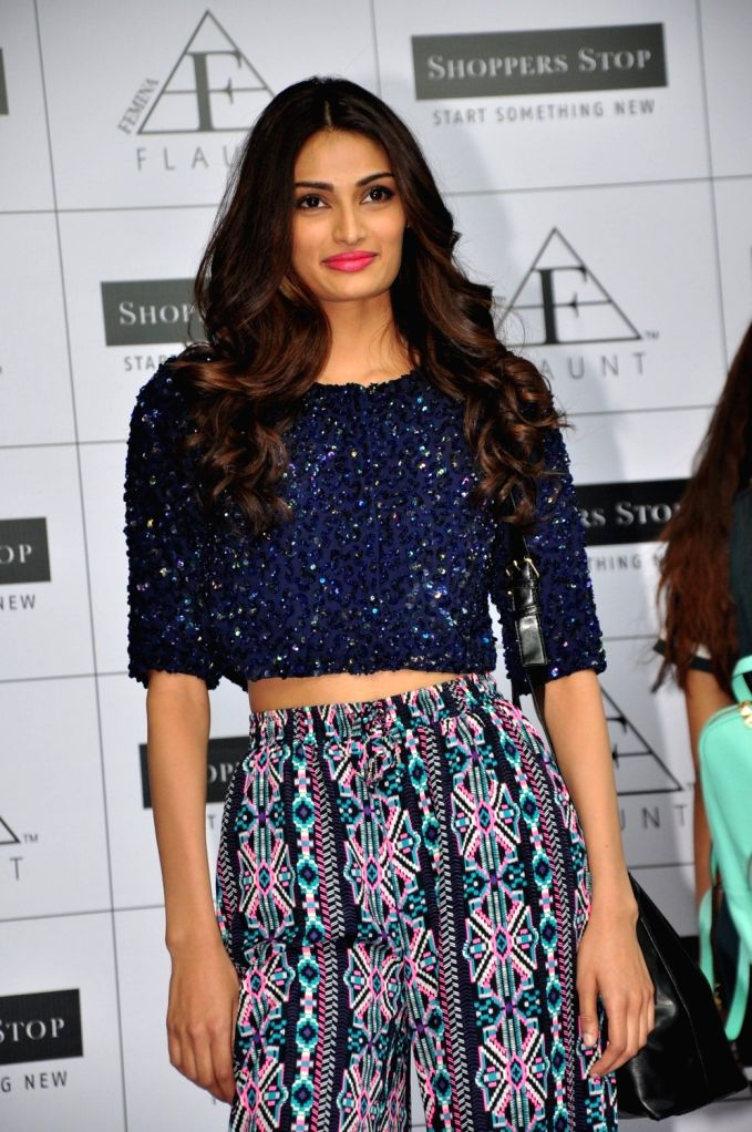 :Mumbai: Actress Athiya Shetty during the launch of Femina Flaunt Fashion partnership with Shoppers Stop, on Nov 4, 2015. (Photo: IANS). - Sonam Kapoor and Salman Khan