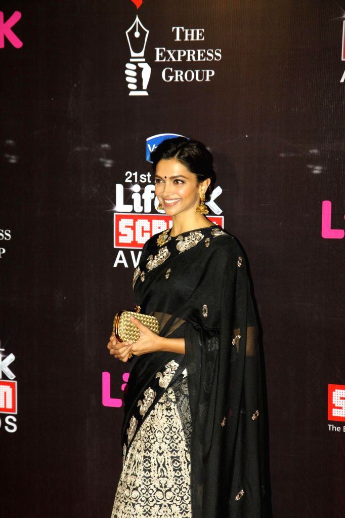 Actress Deepika Padukone during the 21st Annual Life OK Screen Awards in Mumbai on Jan. 14, 2015. - Deepika Padukone