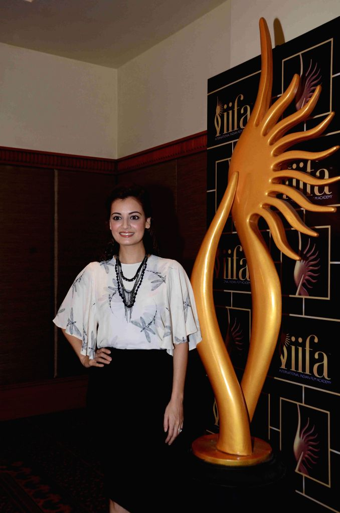 Actress Dia Mirza during the 16th IIFA Voting Weekend, in Mumbai on March 13, 2015. - Dia Mirza