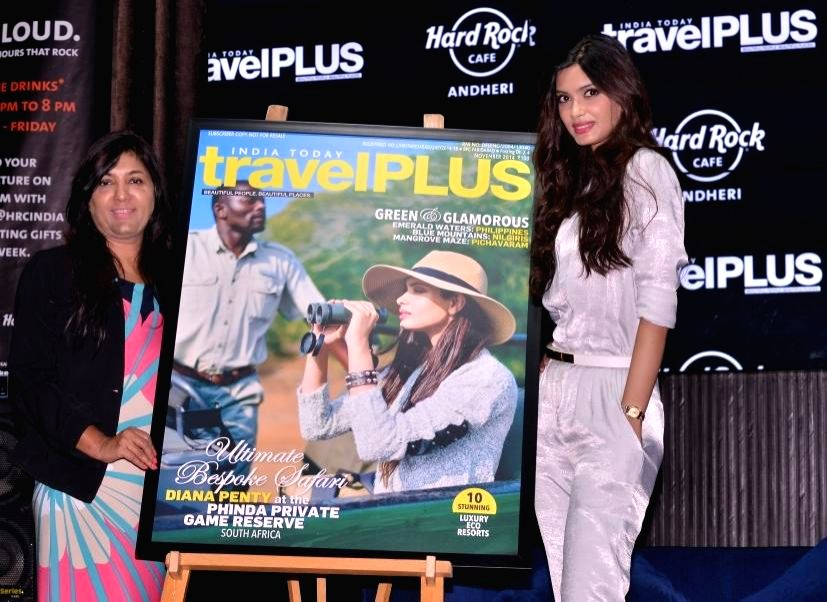 Actress Diana Penty during a programme to unveil the cover of November issue of Travel Plus magazine in Mumbai, on Nov 13, 2014.