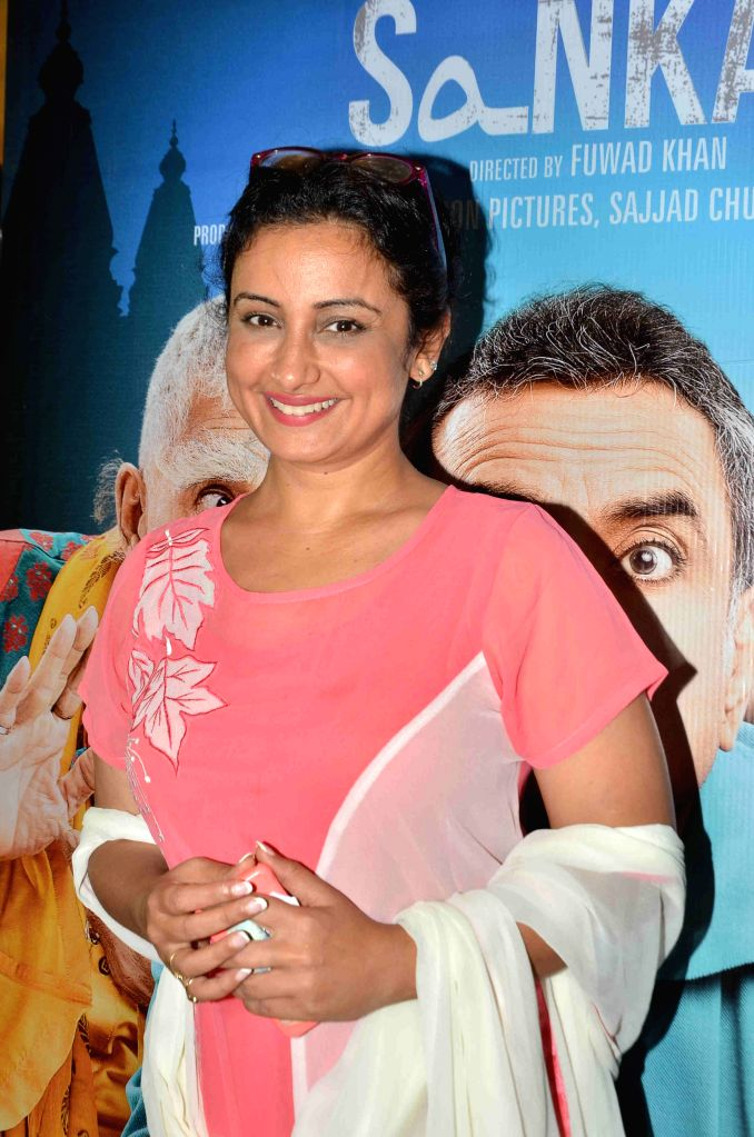 Actress Divya Dutta during the screening of film Dharam Sankat Mein in Mumbai on April 8, 2015. - Divya Dutta