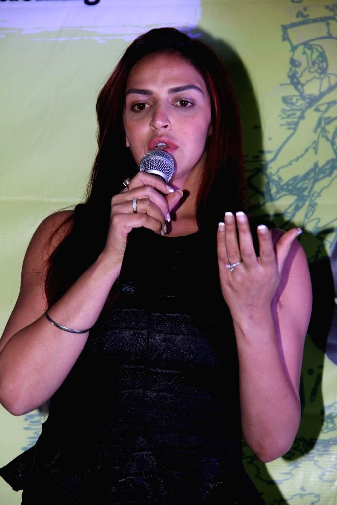 Actress Esha Deol during the trailer launch of film Barefoot to Goa in Mumbai on March 24, 2015. - Esha Deol