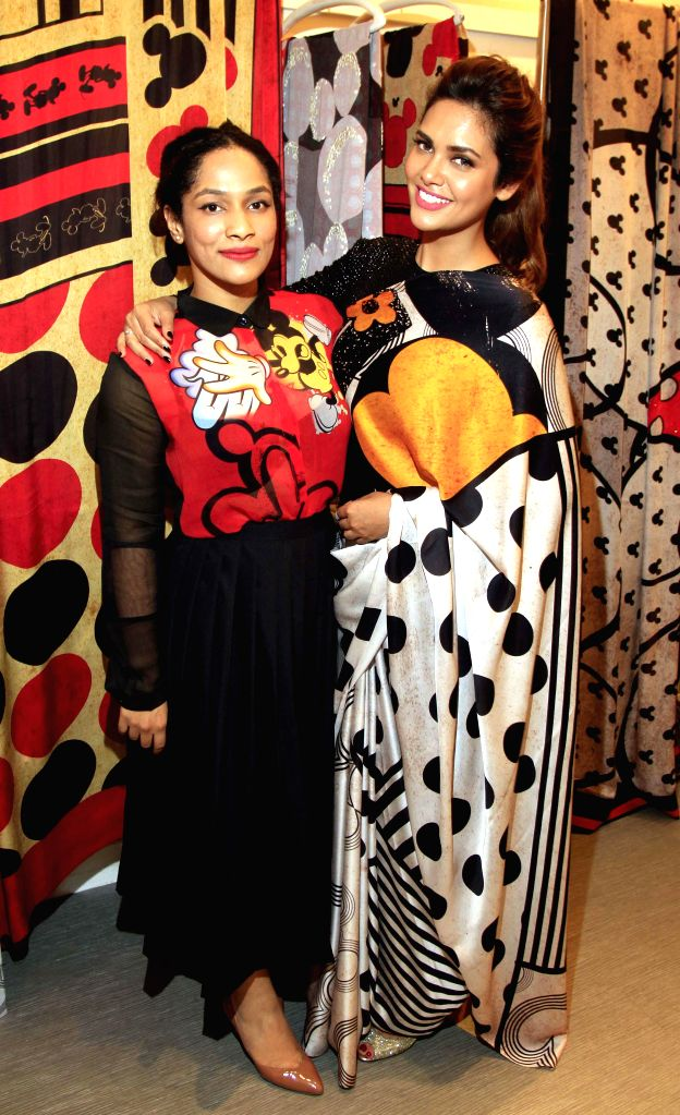 Actress Esha Gupta at the launch of 'Disney Mono Pop by Satya Paul' - a stylish retro-modern collection in Mumbai on Dec 3, 2014.