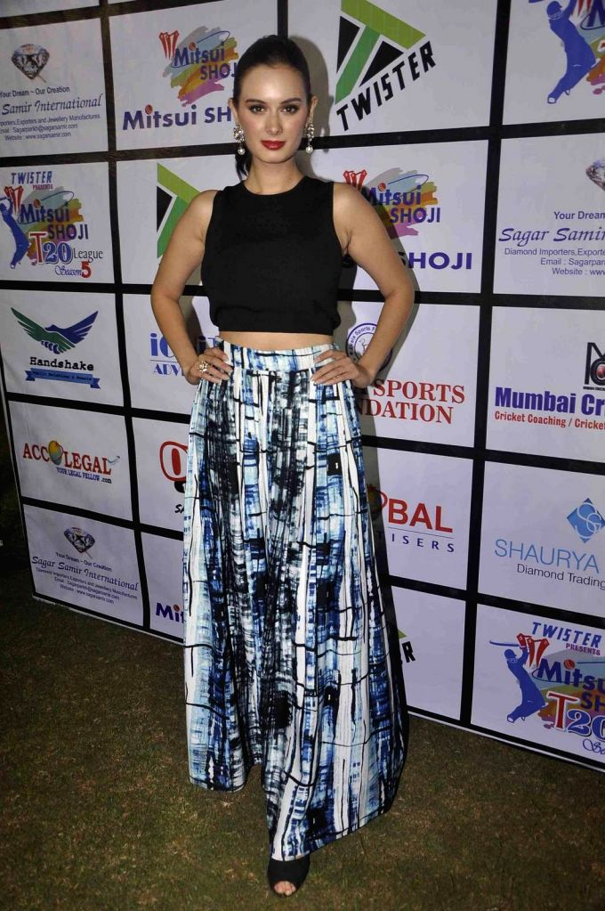 Actress Evelyn Sharma during the Mitsui Shoji T20 Cricket League 2015 organised by Sagar Samir International and Shaurya Jems in Mumbai, on April 27, 2015. - Evelyn Sharma