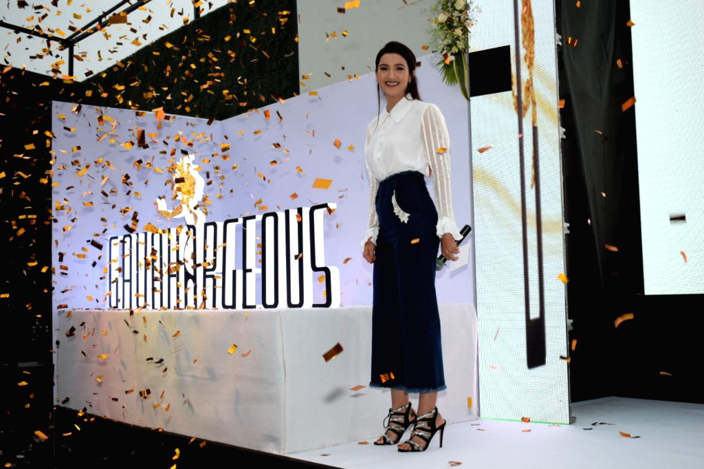 "Mumbai: Actress Gauahar Khan at the launch of her clothing brand ""Gauahargeous"" in Mumbai on March 15, 2018.(Photo: IANS) - Gauahar Khan"