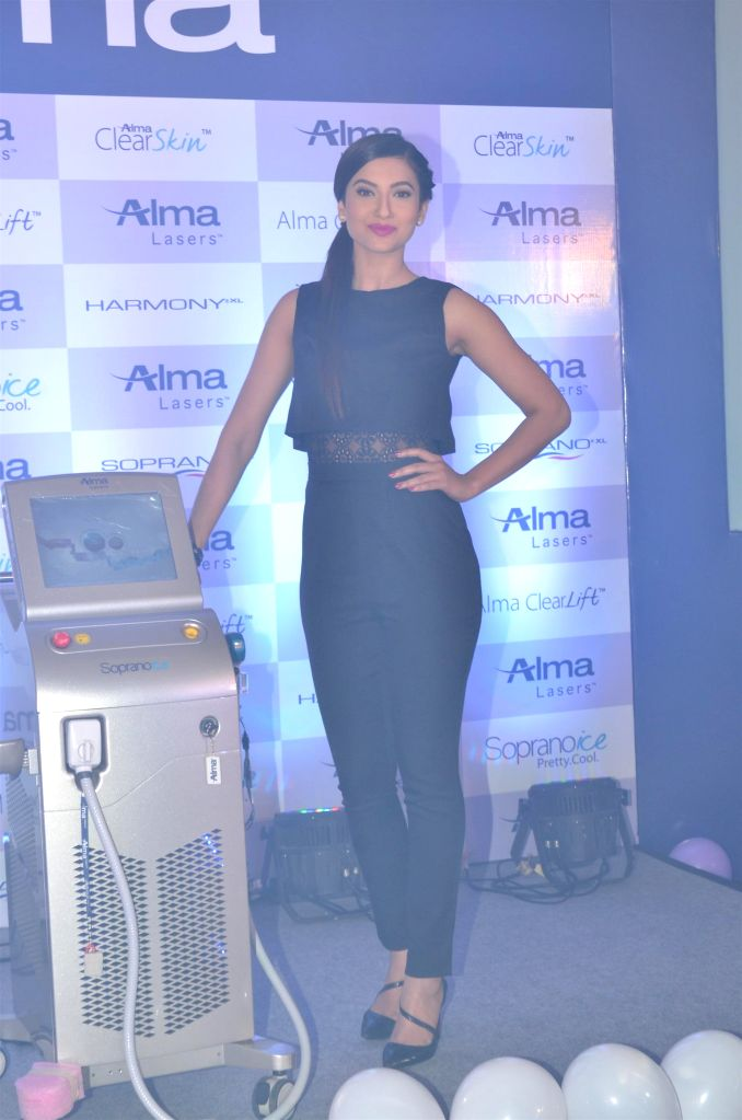 Gauhar Khan the brand ambassador of Alma Lasers launches Skin Laser