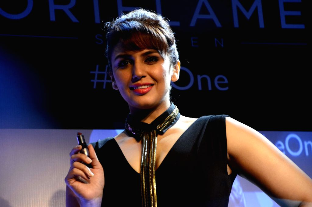 Actress Huma Qureshi during a programme in Mumbai, on Feb 26, 2015.