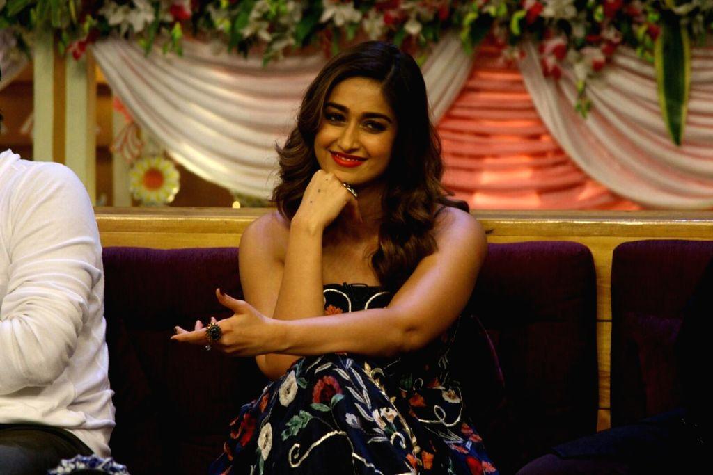 """Mumbai: Actress Ileana D'Cruz during the promotion of her upcoming film """"Mubarakan"""" on the set of """"The Kapil Sharma Show"""" in Mumbai, on July 26, 2017. (Photo: IANS) - Ileana D'Cruz"""