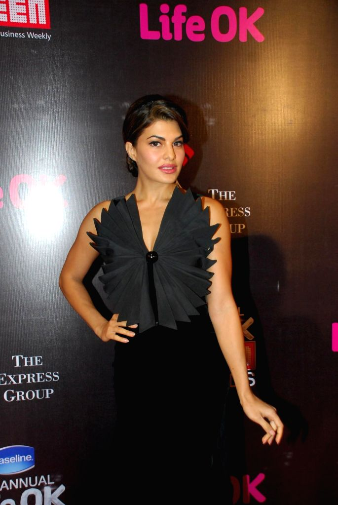 Actress Jacqueline Fernandez during the 21st Annual Life OK Screen Awards in Mumbai on Jan. 14, 2015. - Jacqueline Fernandez