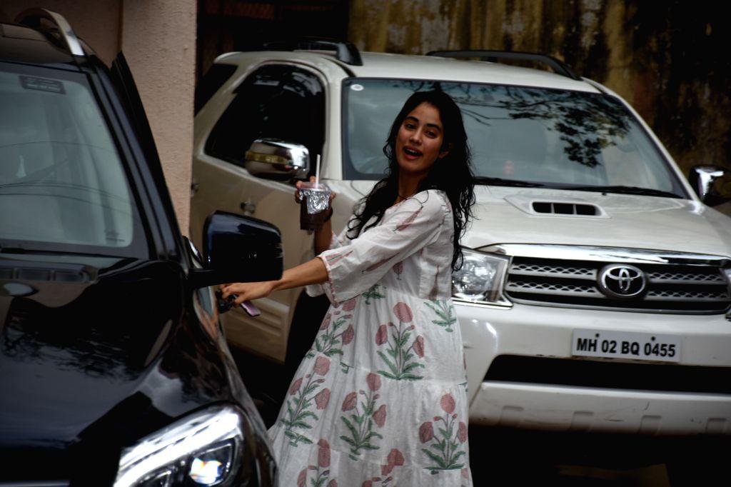 Mumbai: Actress Janhvi Kapoor seen at a Mumbai gym on Aug 31, 2019. (Photo: IANS) - Janhvi Kapoor