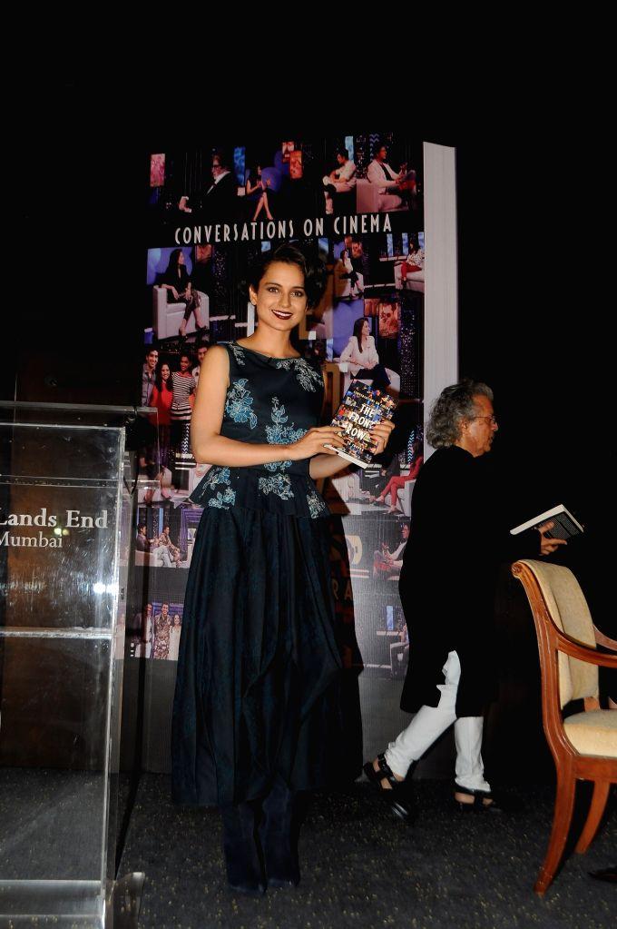 Actress Kangana Ranaut during the launch of Anupama Chopra`s book The Front Row in Mumbai on 7 April 2015. - Kangana Ranaut