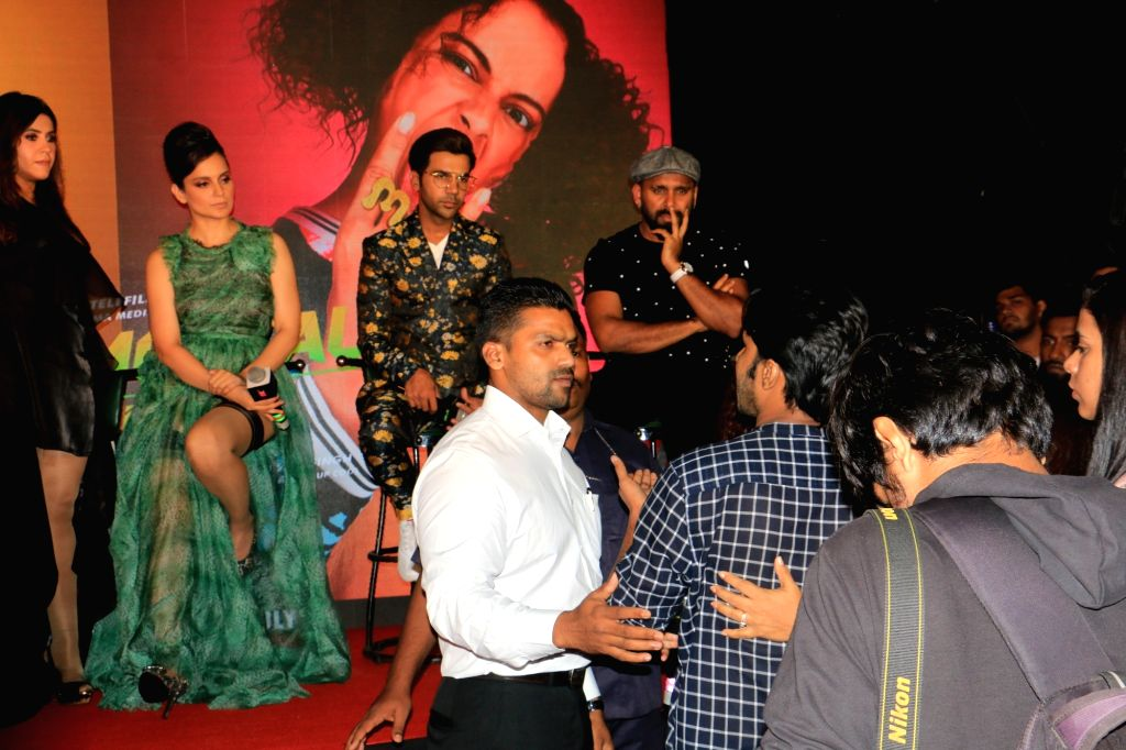 """Mumbai: Actress Kangana Ranaut got into a heated argument with a wire service journalist at an event. The incident happened while Kangana was interacting with the media at the launch of the song, """"Wakhra swag"""", from her forthcoming film """"JudgeMentall - Kangana Ranaut, Rajkummar Rao and Ekta Kapoor"""