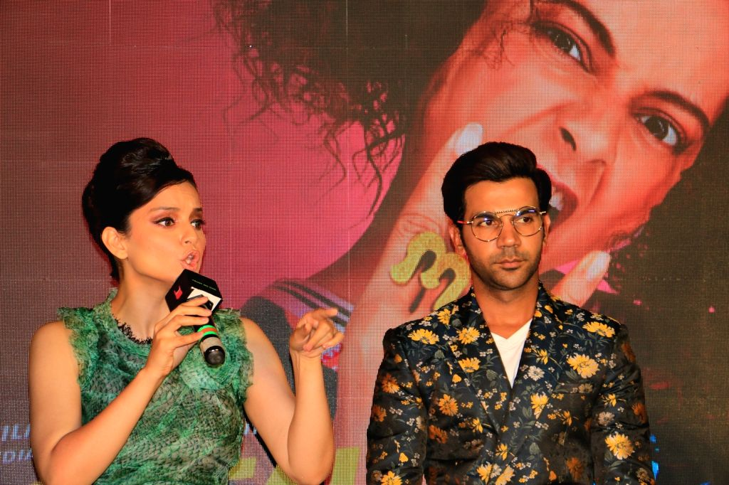 """Mumbai: Actress Kangana Ranaut got into a heated argument with a wire service journalist at an event. The incident happened while Kangana was interacting with the media at the launch of the song, """"Wakhra swag"""", from her forthcoming film """"JudgeMentall - Kangana Ranaut and Rajkummar Rao"""