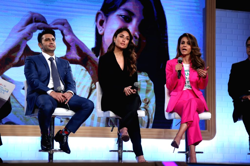 "Mumbai: Actress Kareena Kapoor Khan, Serum Institute of India CEO Adar Poonawalla and Villoo Poonawalla Foundation ChairpersonNatasha Poonawalla at the launch of the ""Swasth Immunised India"" campaign in Mumbai, on Feb 21, 2019. (Photo: IANS) - Kareena Kapoor Khan"