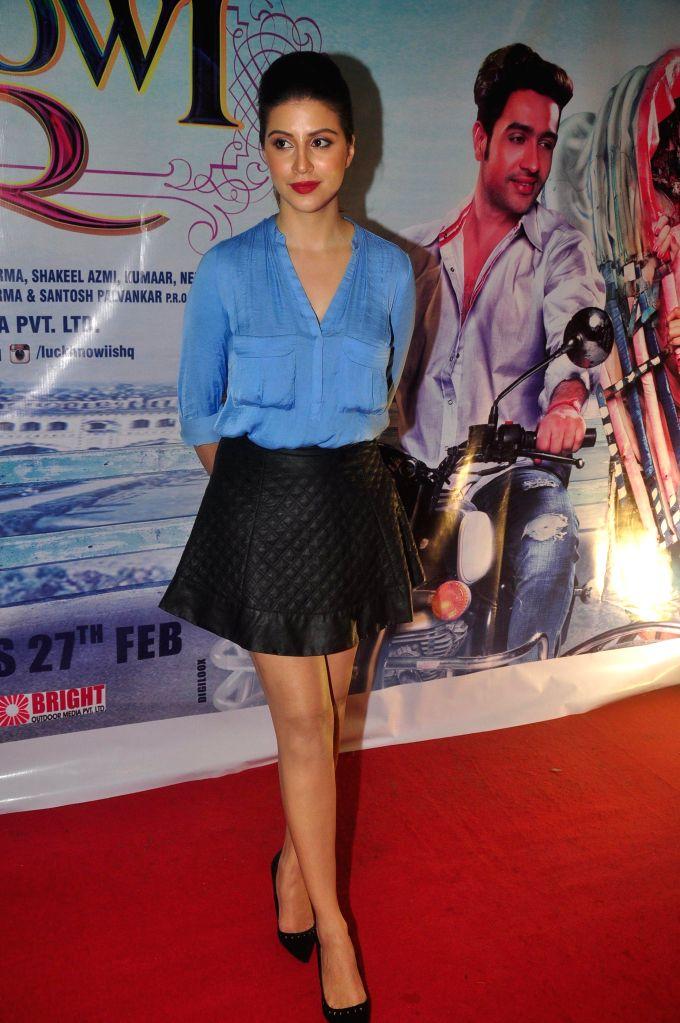 Actress Karishma Kotak during the first look on film Lucknowi Ishq in Mumbai on 28th January 2015 (Photo: IANS) I - Karishma Kotak