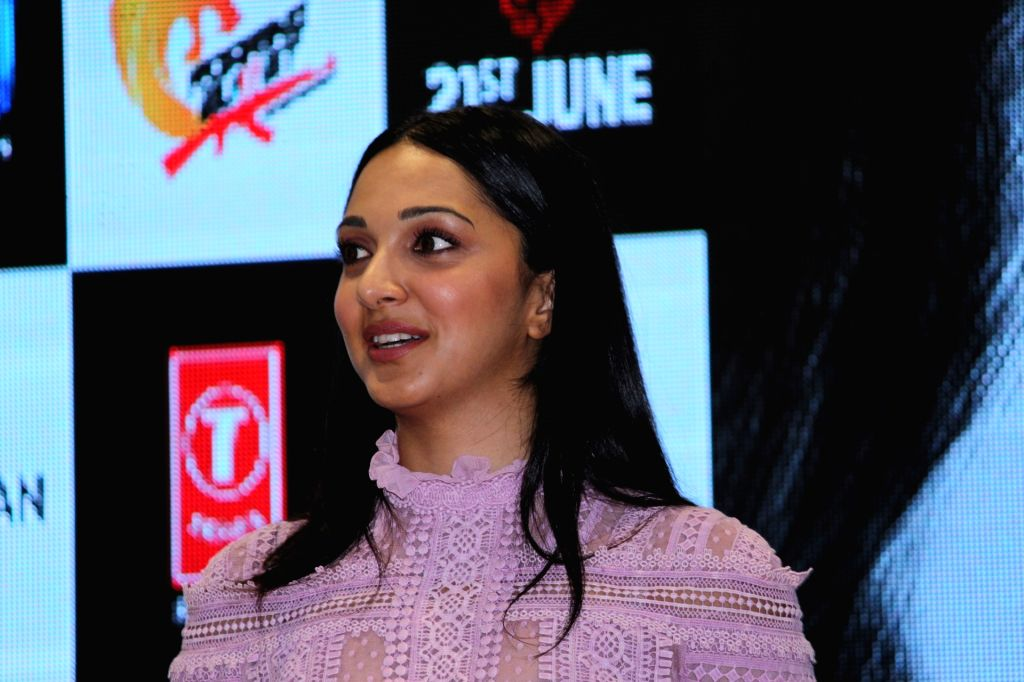 "Mumbai: Actress Kiara Advani at the launch of a song ""Mere Sohneya"" of her upcoming film ""Kabir Singh"", in Mumbai, on June 6, 2019. (Photo: IANS) - Kiara Advani and Kabir Singh"