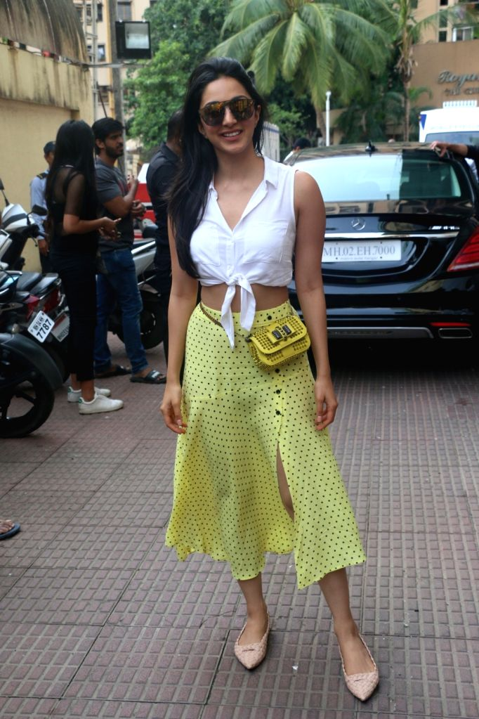 "Mumbai: Actress Kiara Advani at the screening of her upcoming film ""Kabir Singh"", in Mumbai, on June 23, 2019. (Photo: IANS) - Kiara Advani and Kabir Singh"