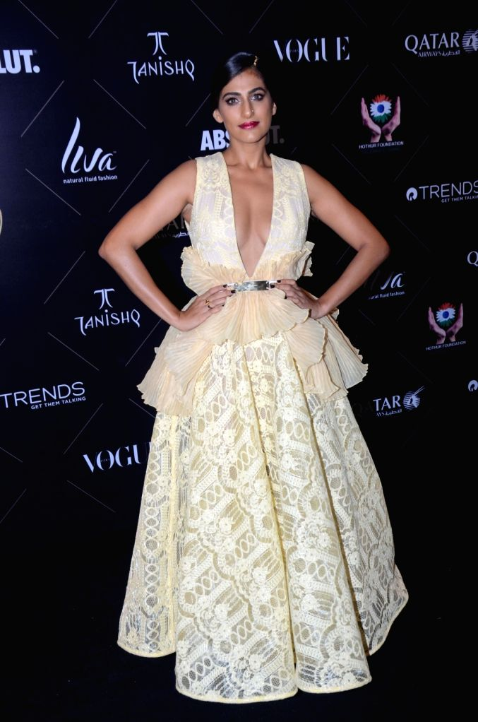 "Mumbai: Actress Kubbra Sait at the red carpet of ""Vogue Beauty Awards"" in Mumbai on July 31, 2018.(Photo: IANS) - Kubbra Sait"