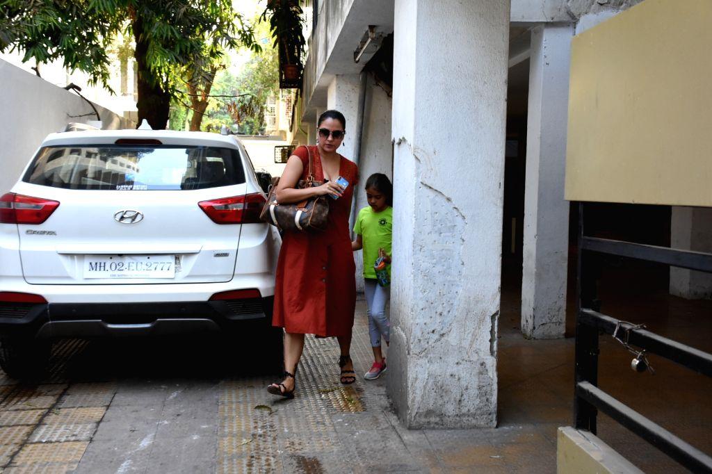 Mumbai: Actress Lara Dutta seen at a clinic in Mumbai's Bandra on May 8, 2019. (Photo: IANS) - Lara Dutta