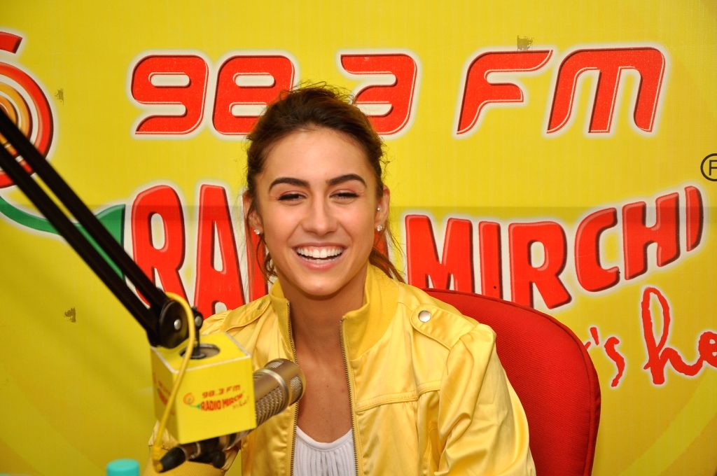 Actress Lauren Gottlieb during a promotion event of their upcoming film Welcome to Karachi in Mumba, on April 27, 2015. - Lauren Gottlieb