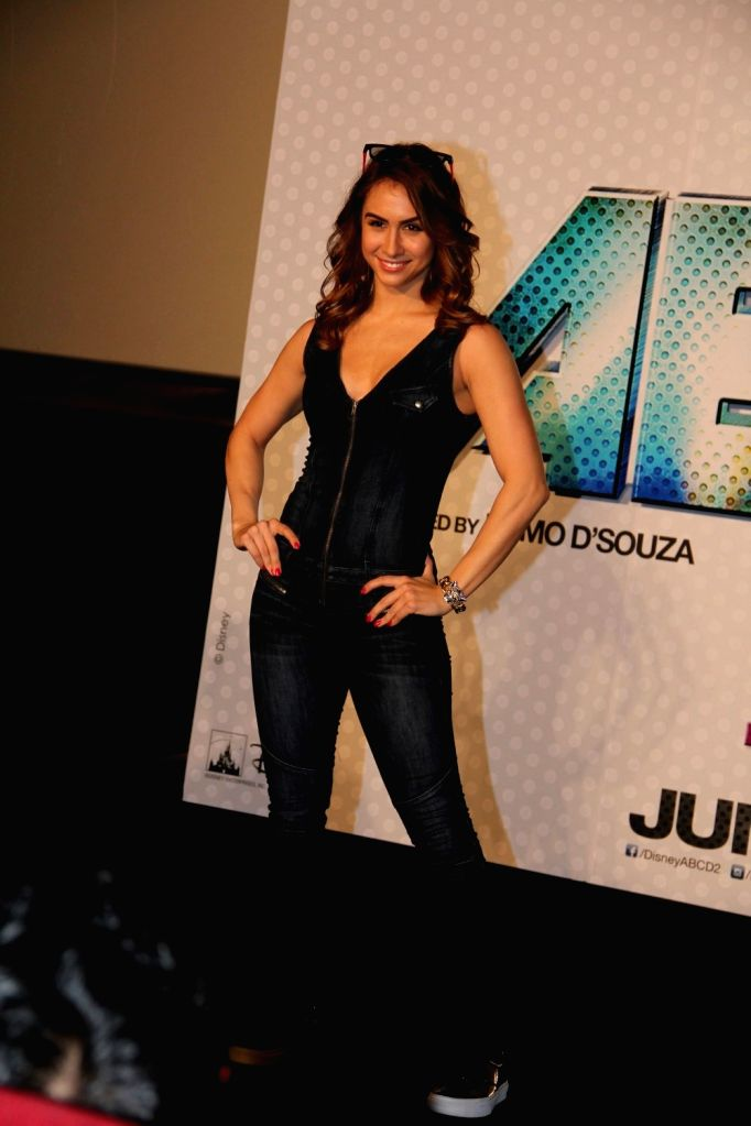 Actress Lauren Gottlieb during the trailer launch of film Any Body Can Dance 2 (ABCD 2) in Mumbai, on April 23, 2015. - Lauren Gottlieb