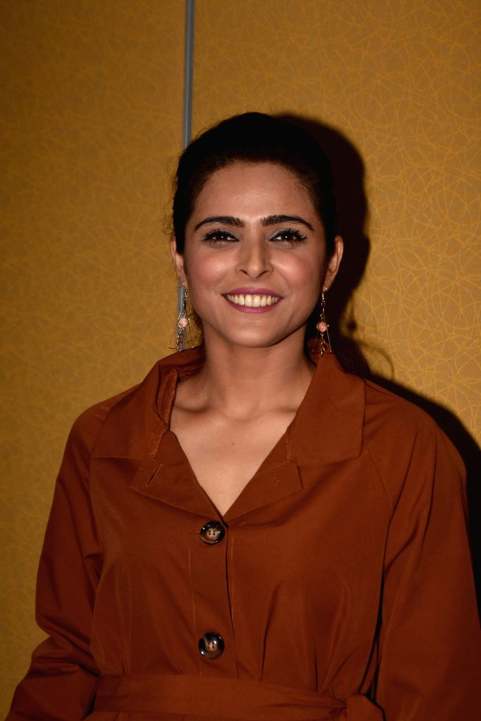 Mumbai: Actress Madhurima Tuli after she was reportedly asked by superstar and 'Bigg Boss 13' host Salman Khan to leave the house for breaking rules and getting violent, in Mumbai on Jan 18, 2020. Earlier this week, Bigg Boss 13 contestant Madhurima  - Madhurima Tuli, Salman Khan and Vishal Aditya Singh