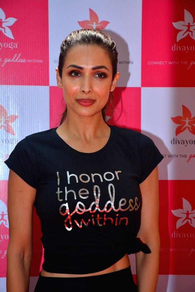 :Mumbai: Actress Malaika Arora at the launch of Diva Yoga on Oct 12, 2018. (Photo: IANS).