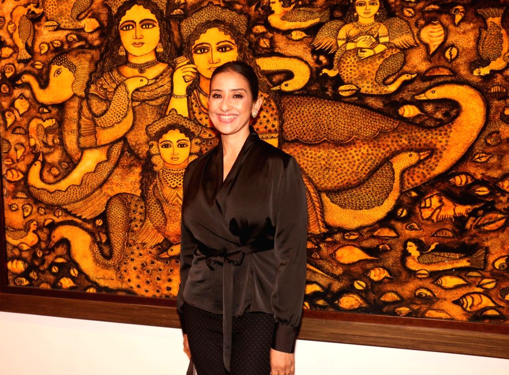 "Mumbai: Actress Manisha Koirala during the inauguration of art show ""Breaking Barriers"" in Mumbai on Nov 27, 2018. (Photo: IANS) - Manisha Koirala"