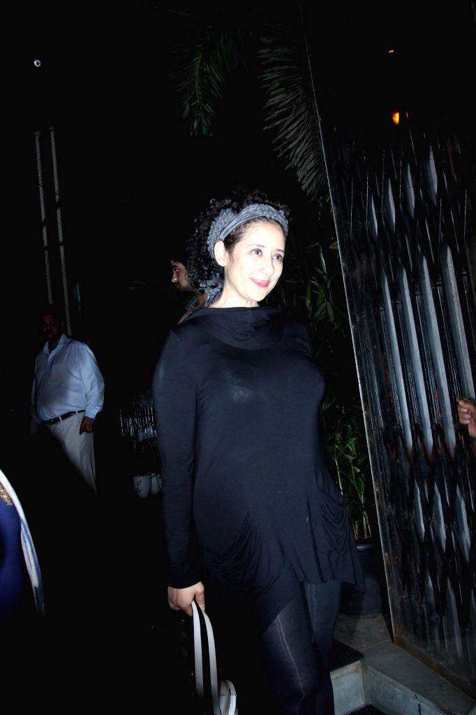 Actress Manisha Koirala during the Sanjay Leela Bhansali celebrates Padma Shri honour party in Mumbai 28th January 2015. - Manisha Koirala