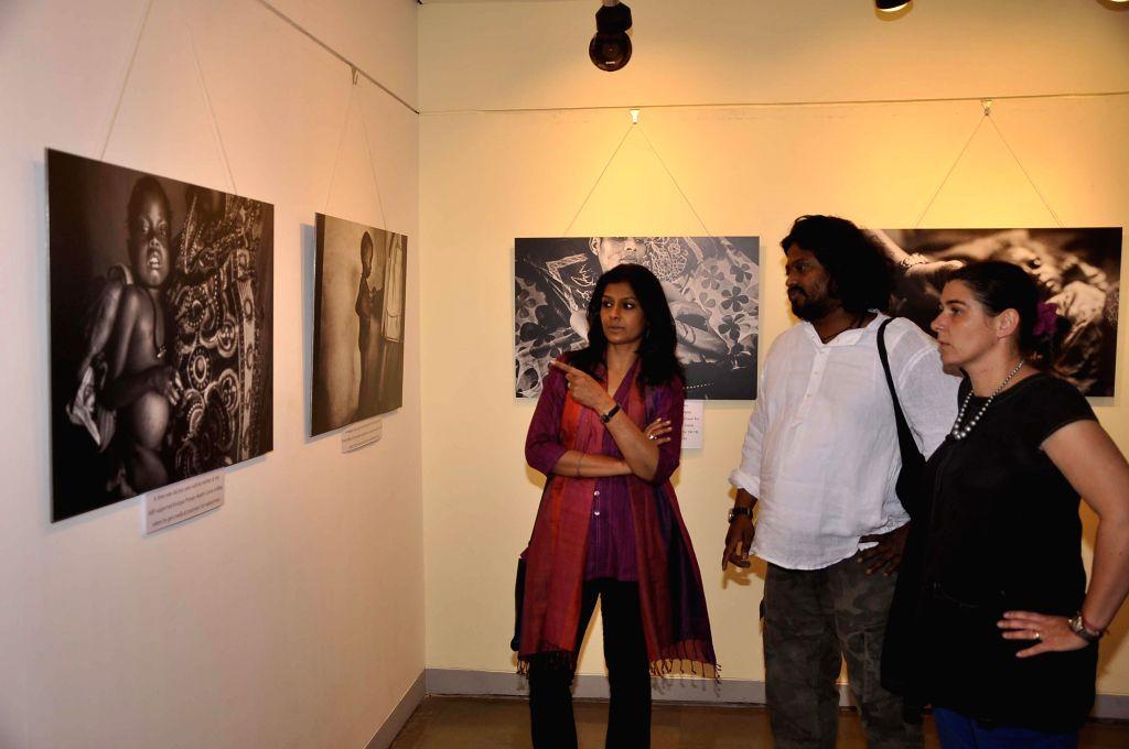 Actress Nandita Das visits a photography exhibition by Sami Siva at Piramal Art Gallery in Mumbai on Feb. 2, 2015.