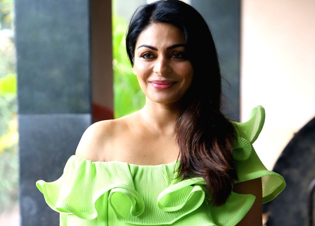 "Mumbai: Actress Neeru Bajwa during the promotion of her upcoming film ""Shadaa"", in Mumbai on June 12, 2019. (Photo: IANS) - Neeru Bajwa"