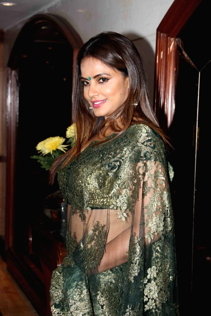 ": Mumbai: Actress Neetu Chandra at the special screening of short film ""The Playboy Mr. Sawhney"" in Mumbai on Oct 24, 2018. (Photo: IANS)."