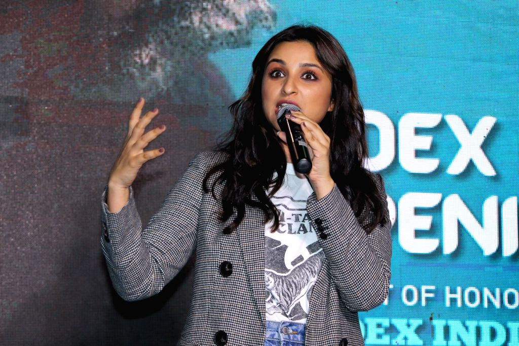 Mumbai: Actress Parineeti Chopra during a programme in Mumbai on Oct 4, 2019. (Photo: IANS) - Parineeti Chopra