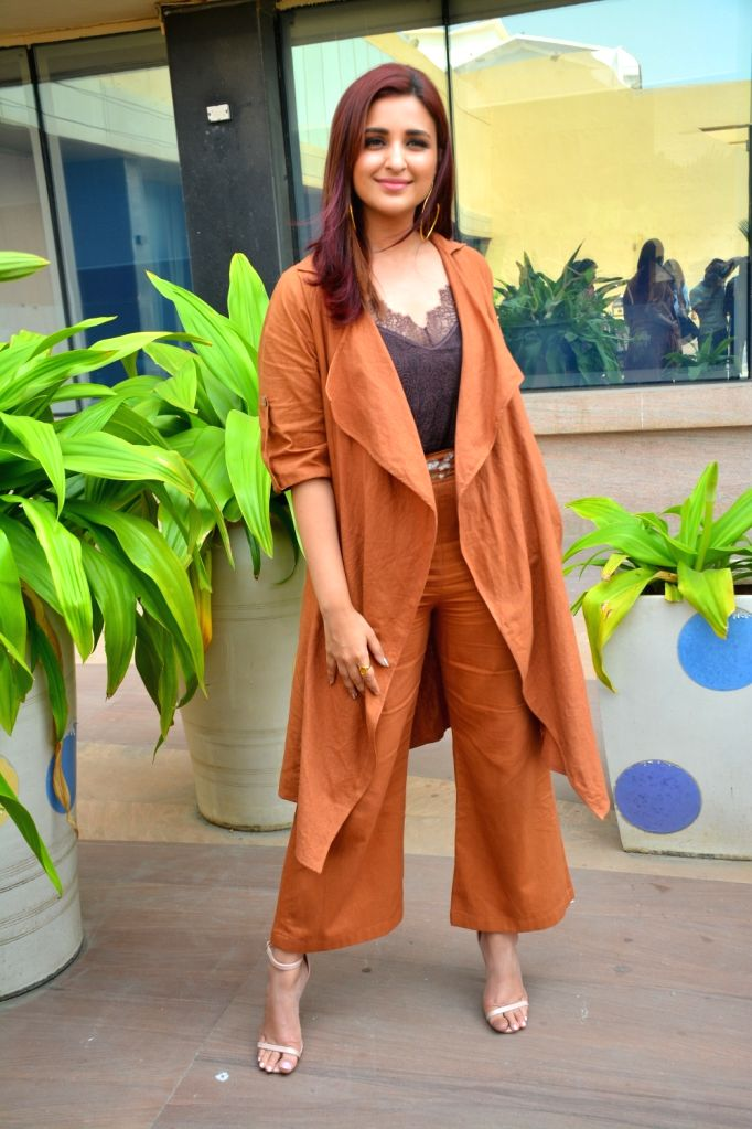 "Mumbai: Actress Parineeti Chopra during the promotion of her upcoming film ""Namaste England"" in Mumbai on Oct 11, 2018. (Photo: IANS) - Parineeti Chopra"